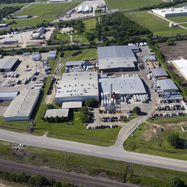 Aerial shot of Seatex at Rosenberg