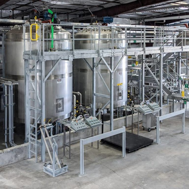 Chemical blending equipment at Seatex's Rosenberg chemical plant