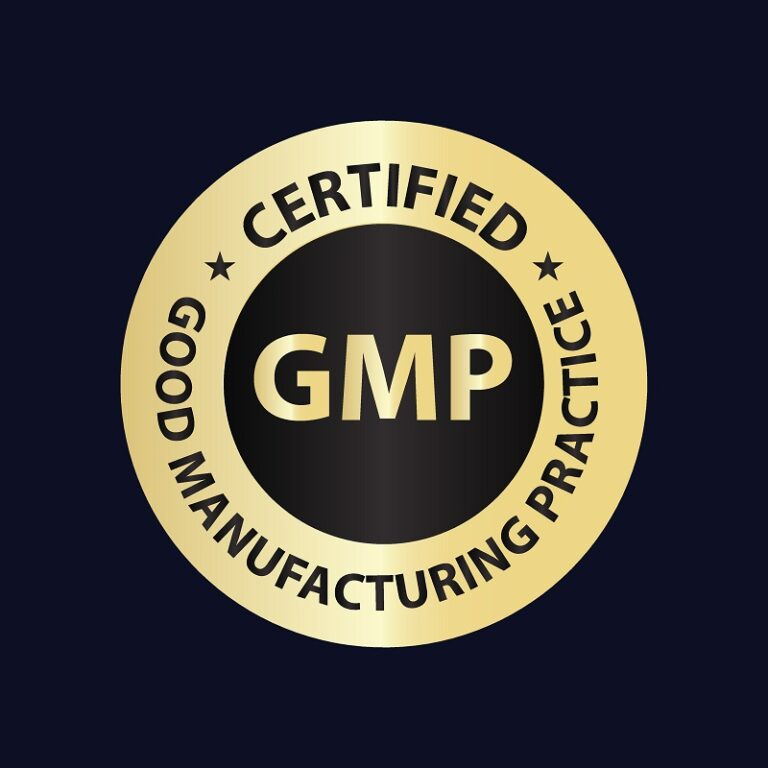 Good Manufacturing Practice (GMP) certified badge