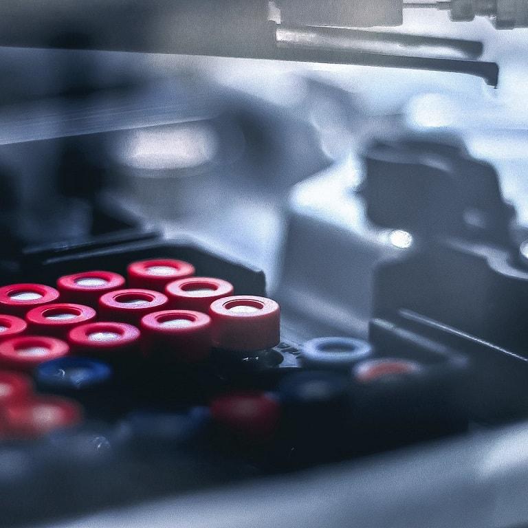HPLC autosampler close up
