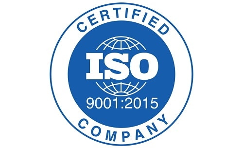 ISO 2009:2015 certified company badge